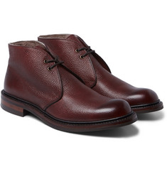 Cheaney Wool-Lined Pebble-Grain Leather Chukka Boots