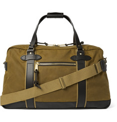 Filson Meridian Leather-Trimmed Cotton-Canvas Holdall
