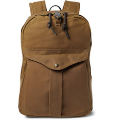 Filson Journeyman Leather-Trimmed Canvas Backpack
