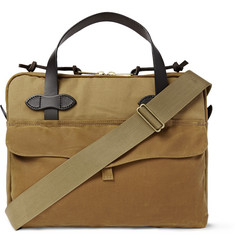 Filson Leather-Trimmed Coated-Canvas Briefcase