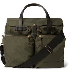 - 72 Hour Leather-Trimmed Canvas Briefcase