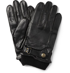 Dents - Penrith Knit-Trimmed Leather Gloves