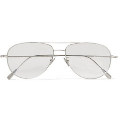 Cutler and Gross Aviator-Style Palladium-Plated Optical Glasses