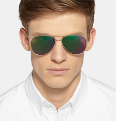 Cutler and Gross Metal Mirrored Aviator Sunglasses