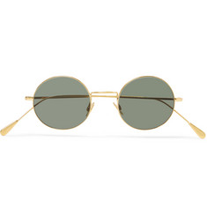 Cutler and Gross Round-Frame Gold-Tone Sunglasses
