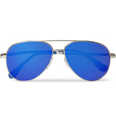 Cutler and Gross Aviator-Style Metal Mirrored Sunglasses