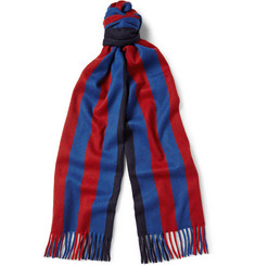 Begg & Co Ripley Striped Wool and Cashmere-Blend Scarf