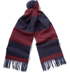 Begg & Co Derwatt Striped Wool and Cashmere-Blend Scarf