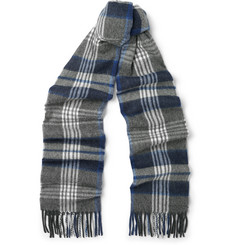 Begg & Co Trevanny Checked Wool and Cashmere-Blend Scarf