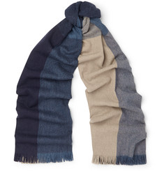 Begg & Co Trio Checked Wool and Cashmere-Blend Scarf