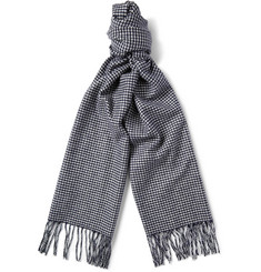 Begg & Co Moussa Houndstooth Arran Cashmere Scarf