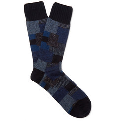 Anonymous Ism Patchwork Knitted Cotton-Blend Socks