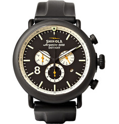 Shinola The Runwell 47mm Chronograph Stainless Steel and Rubber Watch