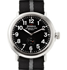 Shinola The Runwell 47mm Stainless Steel and Nylon Watch