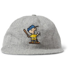 Ebbets Field Flannels + TSPTR Charlie Brown Appliquéd Wool Baseball Cap