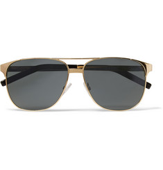 Saint Laurent Gold-Tone Aviator Sunglasses