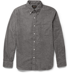 Beams Plus Slim-Fit Button-Down Collar Cotton-Flannel Shirt