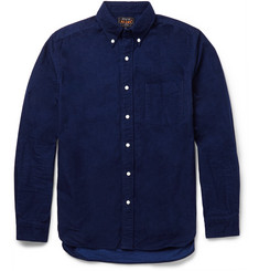 Beams Plus Slim-Fit Indigo-Dyed Cotton-Flannel Shirt