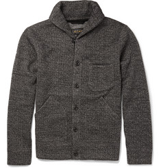 Beams Plus Fleece-Lined Herringbone Woven Cardigan