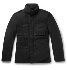 Beams Plus Cotton-Canvas Down Jacket with Detachable Layer