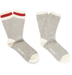 Beams Plus Two-Pack Cotton-Blend Socks