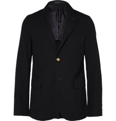 Beams Plus Midnight-Blue Slim-Fit Wool-Twill Blazer