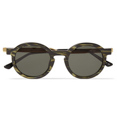Thierry Lasry Sobriety Round-Frame Striped Acetate Sunglasses