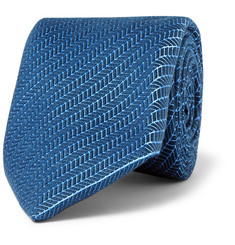 Charvet - Wool and Silk-Blend Jacquard Tie