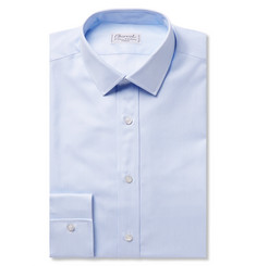 Charvet Blue Slim-Fit Striped Cotton Shirt