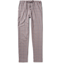 Hanro Emilien Checked Cotton-Twill Pyjama Trousers