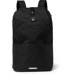 Brooks England Dalston Leather-Trimmed Canvas Backpack
