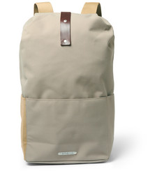 Brooks England Dalston Medium Utility Leather-Trimmed Canvas Backpack