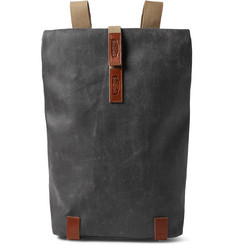 Brooks England Pickwick Small Leather-Trimmed Canvas Backpack
