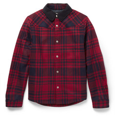 A.P.C. Paolo Plaid Wool-Blend Flannel Jacket