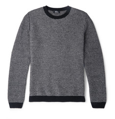 A.P.C. Slim-Fit Two-Tone Wool Sweater