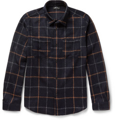 A.P.C. Plaid Wool-Blend Overshirt