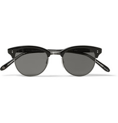 Garrett Leight California Optical Washington Acetate and Stainless Steel Round-Frame Sunglasses