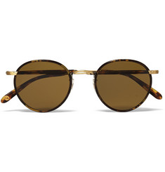 Garrett Leight California Optical Wilson Tortoiseshell Acetate and Metal Sunglasses