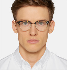 Garrett Leight California Optical Washington Tortoiseshell Acetate and Metal Optical Glasses