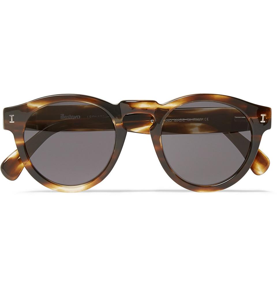 Leonard Round Frame Tortoiseshell Acetate Sunglasses Brown