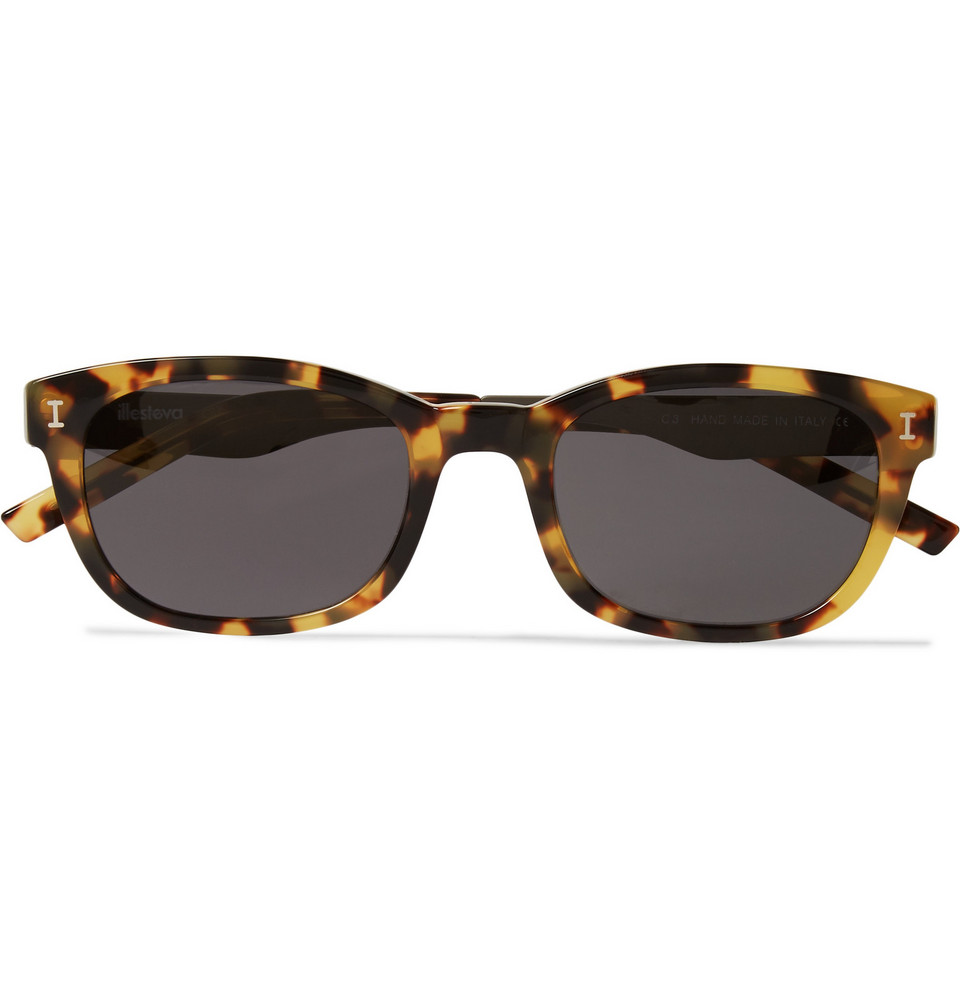 Keating D Frame Tortoiseshell Acetate and Stainless Steel Sunglasses Brown