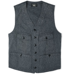 RRL Parks Striped Cotton Waistcoat