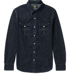 RRL Slim-Fit Rinsed Denim Western Shirt