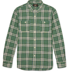RRL Slim-Fit Checked Cotton and Linen-Blend Shirt