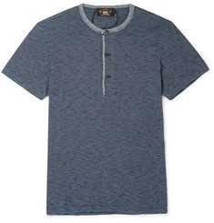 RRL Striped Cotton-Jersey Henley T-Shirt