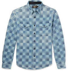 RRL Melton Brushed Cotton-Jacquard Shirt
