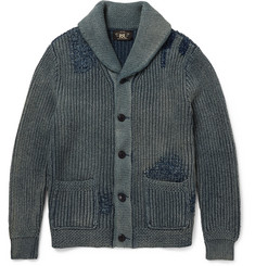 RRL Indigo-Dyed Shawl-Collar Cotton Cardigan