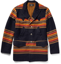 RRL Donner Striped Wool-Blend Coat