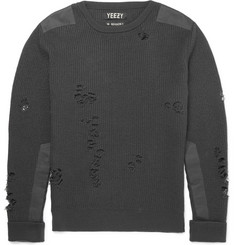 Yeezy x Adidas Originals - Distressed Ribbed Wool Sweater