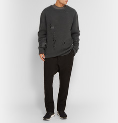 Yeezy x Adidas Originals Distressed Ribbed Wool Sweater
